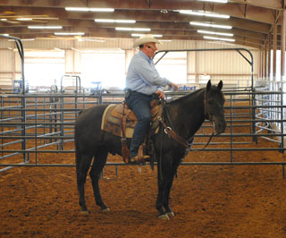 Ron Gill, Texas Agrilife Extension livestock specialist and effective stockmanship instructor speaks to ranchers at a recent clinic.