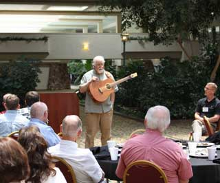 Andy Wilkinson, Artist in Residence from TTU�s Southwest Collections, was the noon speaker and performed at the awards luncheon.