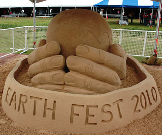 Earth Fest Sand Sculpture