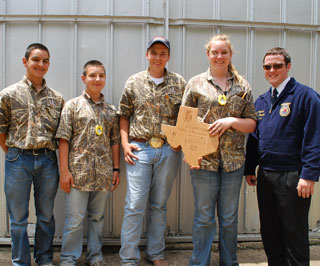 The top scoring FFA chapter was from Rusk.