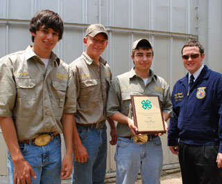 The top scoring 4-H chapter was from Kerr County.