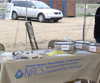 NRCS participated in the 4th Annual Earth Fest celebration in Amarillo and provided a hands-on soils learning station and more.