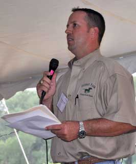 Michael Goudeau of Hungerford was the event�s keynote speaker. The Goudeau family operates a commercial hay operation and has been farming and ranching in Hungerford since the 1800s.