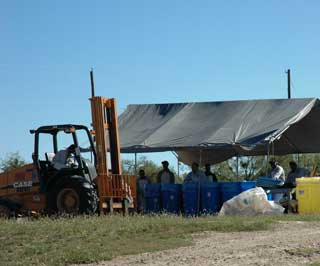 USAg, a Houston based company, was on location to dispose of agriculture waste products during a collection day held in Eden, Texas.