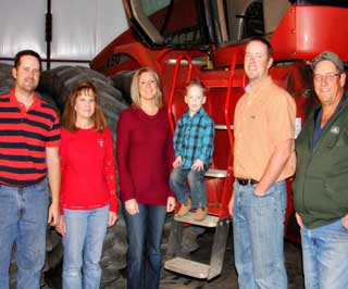 David Ford (far right) and his family farm over 10,000 acres in Dumas, in Hartley, Moore, and Dallam Counties in the Texas Panhandle.
