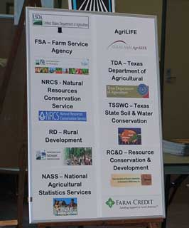 Along with NRCS, other federal entities involved in the South Central Initiative for Outreach & Assistance for Socially Disadvantaged Farmers & Ranchers (SCIOASDFR) program with the USDA-Office of Advocacy & Outreach (USDA/OAO) are the USDA-Farm Service Agency (FSA) and the USDA-Rural Development (RD). Partnering state entities are the Texas Soil and Water Conservation District Board (TSWCDB), Texas AgriLife Extension and Texas Department of Agriculture (TDA). Local Resource and Conservation Development (RC&D) Councils and Soil and Water Conservation Districts are cooperative partners.