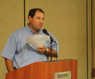 Will Blackwell, NRCS district conservationist from Refugio assisted as moderator during the conference.