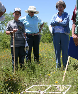Attendees at the Rangeland Stewardship Workshop in Hondo learn how to estimate forage production.