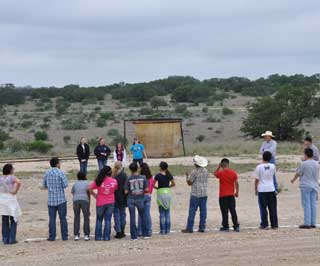 "Sonora 6th grade students learn about wildlife habitat management with a game called ""O Deer."""