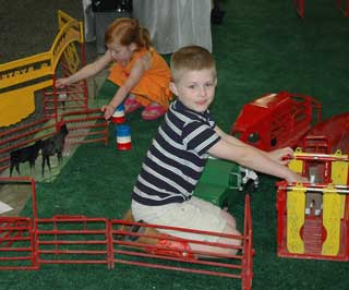 For the much younger and future ranchers in Texas, the Kid's Korral was setup so playtime can be working with scaled down ranching equipment at the 135th Annual TSCRA Convention at the Fort Worth Convention Center held on March 30-April 1, 2012.