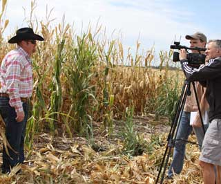 NRCS Agronomist Brandt Underwood, Lubbock, was interviewed by VOA on David Fords Farm in Moore County.  Ford has consulted with NRCS for technical assistance and conservation cost-share program practices through the 2008 Farm Bill.