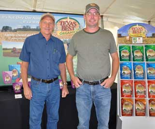 Jefferson County, Texas rice farmers Cecil Slack (left) and Shane Waller (right, Slack�s son-in-law) were each honored as the Farmer of the Year at the 41st Annual Texas Rice Festival in Winnie. The Slack Family owns and operates Texas Best Organics in China, Texas.