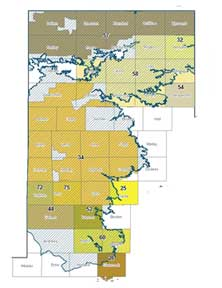 Texas Ogallala Aquifer map