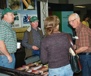 NRCS booth with visitors