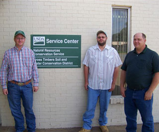 Stephenville Soil Survey Office staff (l to r): John Sackett, Will Tripp, and Sidney Paulson.