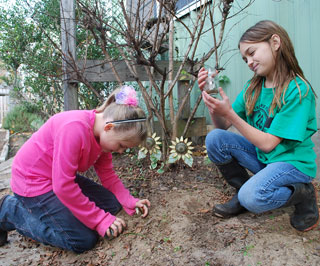 Students learn the basics of gardening and how soil, water, air and sun impact plant growth at the People's Garden at Centerville Elementary School. Learning stations include planting beds and pollinator areas. Water harvesting and composting stations are also being planned.
