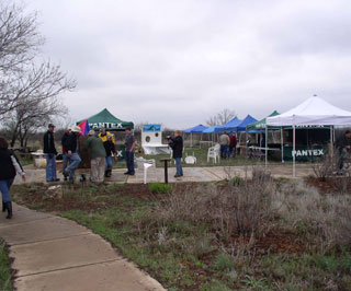 Earth Fest activities were setup throughout the Wildcat Bluff Nature Center.