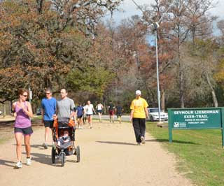 On any given day, Seymour Lieberman Exer-Trail in Houston's Memorial Park, is bustling with people exercising. In early January, the trail's paths wound through areas of dead and dying trees, likely victims of Texas' historic 2011 drought.
