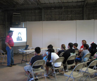 The history and origin of the Mesquite Trees was discussed by Greg Huber, Pecos Valley RC&D Coordinator.