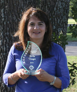 Bertha Venegas, coordinator for the Alamo Resource Conservation and Development (RC&D) Area, received the NOPHNRCSE Visionary Award.
