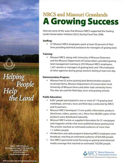 NRCS and Missouri Grasslands