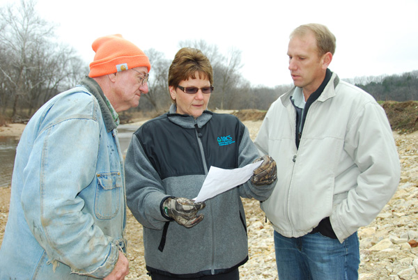 NRCS Initiative Helps Stabilize Gasconade County Streambank.