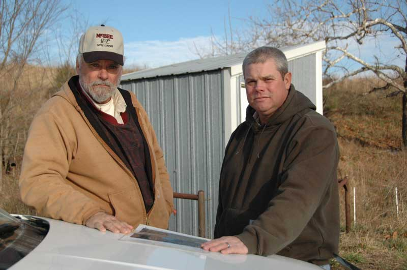 Ron McBee (left) and Resource Conservationist Tim Viertel (right)