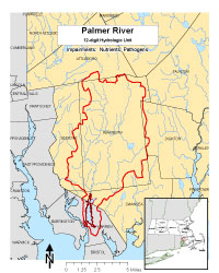 Map of Palmer River subwatershed