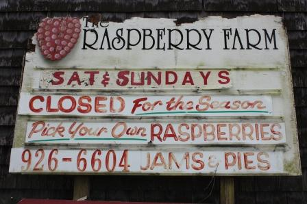 Raspberry Farm Pick Your Own Sign