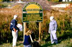 First dedication ceremony at Little River in the early 1990s.