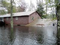 House under water up to second floor due to flooding