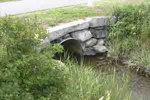 Old inadequate culvert at Appledore Road.