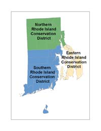 Map of Rhode Island Conservation Districts