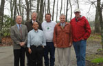 Picture of Richard Wicks (Center) and Conservation Partners