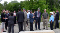 NRCS staff speaks with Senators Reed and Whitehouse on tour