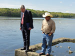 Senator Whitehouse and State Conservationist Vongkhamdy at the Bucklin Point Facility