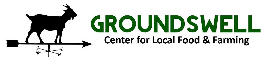 Web link graphic: Groundswell Center for Local Food and Farming