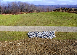Web image: A photo of a newly constructed vegetated treatment area for treating silage leachate. Click image for full screen view