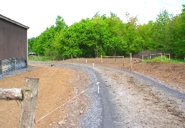Web image: Photo of a newly constructed access road