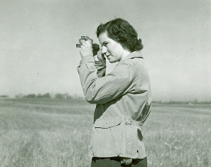 Web image: Photo of Mary C. Baltz, Survey Party Chief, Canastota New York. Mary did all of the soils surveying for seven planners in Madison, Oneida and Lewis counties. As of May 1, 1949, Mary was the only woman doing this type of work in the Soil Conservation Service (SCS) in the United States. Click photo for full page view