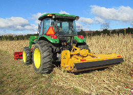 Web image: A knife roller (crimper) used to flatten and kill a cover crop. Click photo for full screen view