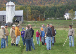 Web image: Discussing prescribed grazing on the Ben Wever Farm