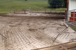 Web image: Photo of concrete used to provide heavy use area protection in a barnyard area