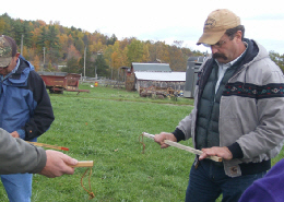 Web image: Dave Roberts, NRCS New York Grazing Specialist, explaining how to use a grazing stick