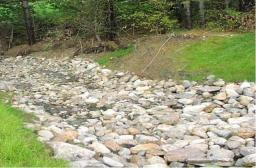 A lined waterway or outlet provides a safe, erosion resistant method to dispose of runoff