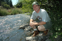 Thanks to the cooperation of the Hendricksons, WDFW Fish Biologist Kent Mayer (above) has been able to conduct critical steelhead research on Asotin Creek.