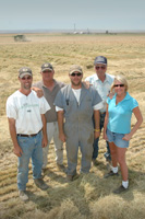 Three generations of the Berg family (from left) Steven, Frank, Matt, Art and Nicole, all play important roles in the expansive agricultural operation.