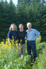 Image: April Jones (center) credits her mother Pat (left) and father Bob Jones with her land stewardship ethic that is such an important part of her 24-acre, certified organic farming operation today.