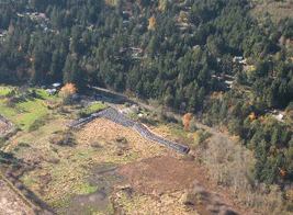 Image: Aerial view of project area with winterized setback dike