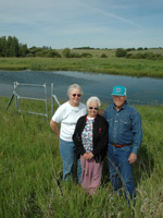 The Willms' family (from left Sally, Evelyn and Marvin) say their Wetlands Reserve Project habitat improvements bring a variety of wildlife right to their back door.